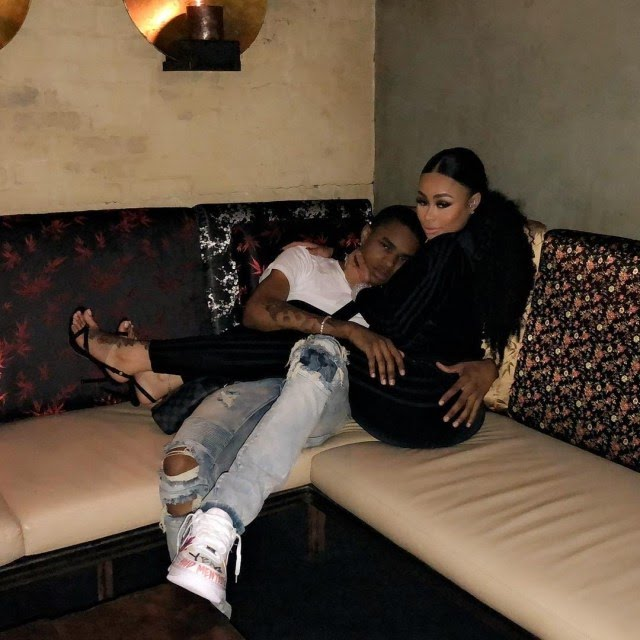 29-year-old Blac Chyna cuddles with her 18-year-old boyfriend